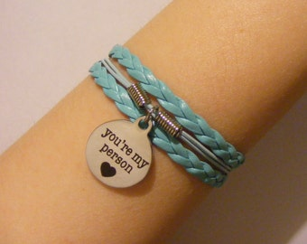 You're my person bracelet, you're my person jewelry, friendship bracelet, friendship jewelry, BFF bracelet, BFF jewelry, fashion bracelet