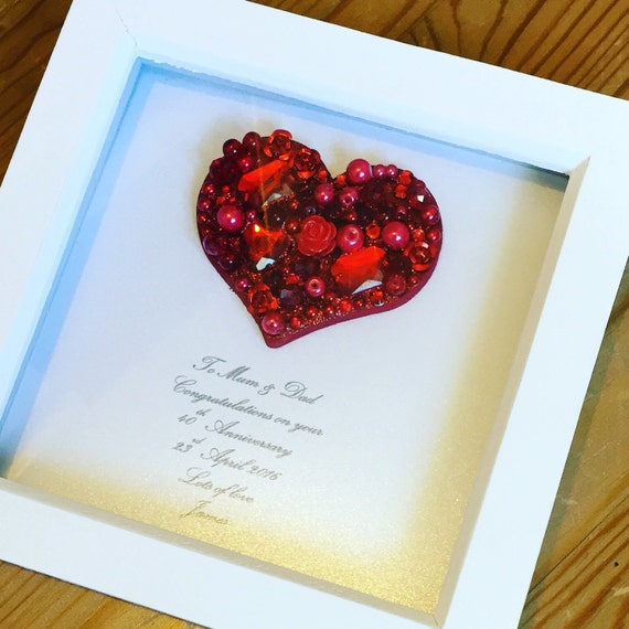 Ruby Wedding Gift Box : gift, ruby wedding gift, 40th wedding gift , Ruby anniversary gift ...