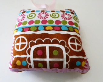 SewAme Handmade  Gingerbread House Christmas Decoration