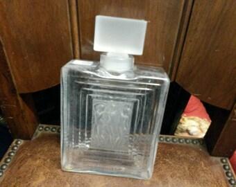 Vintage Lalique France Glass Perfume Bottle