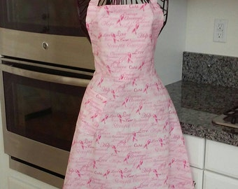 Breast Cancer Awareness apron.