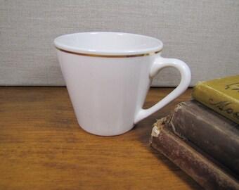 Syracuse China - Syralite - Coffee Mug - Gold Accent - Made in USA
