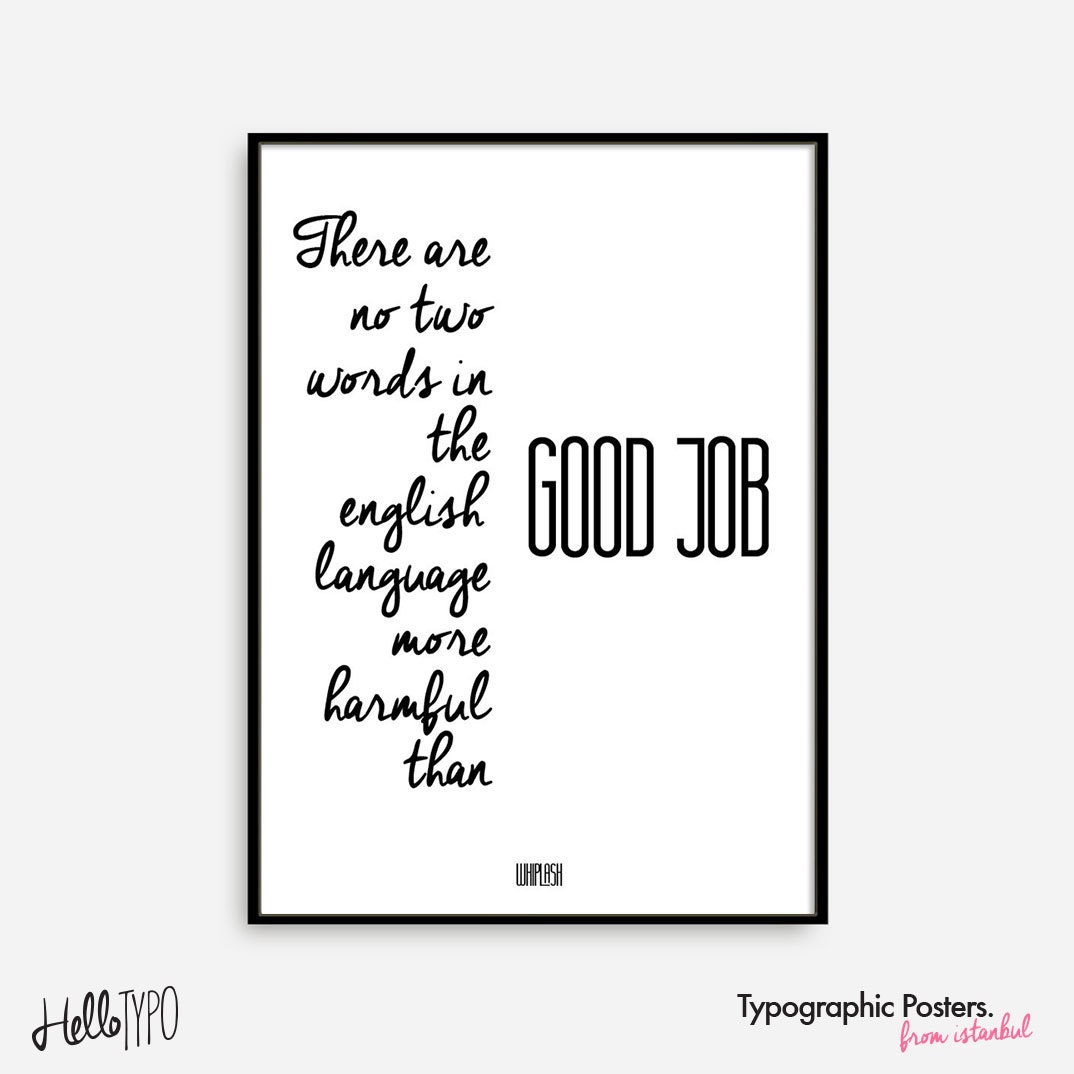 Movie Quotes Wall Art : Movie quotes poster typographic art wall decor