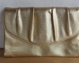 Vintage Metalic Gold Clutch