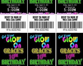 Glow Party Invites