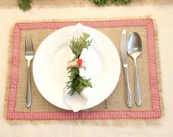 Christmas Placemats, Burlap Placemats, Christmas decor, Christmas table decor, Holiday Placemats, christmas decorations, christmas  runner