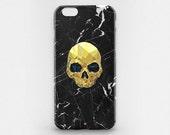 Skull iPhone 6 7 iPhone Case Marble iPhone 7 Plus Case iPhone 6 Case Black Marble iPhone 6 Plus Case Gold Skull iPhone SE Marble iPhone Case