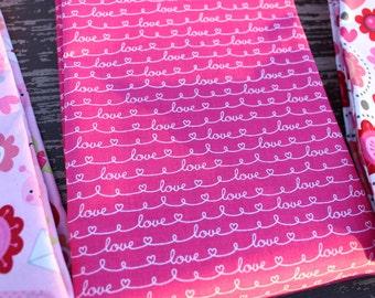Valentines Day Fabric, Love Fabric, Lovebugs by Riley Blake,  Pink, Cotton,  1 Yard