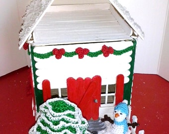Popsicles Christmas house box