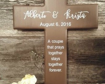 Couples Cross - Wedding Gift - Personalized Cross - Cross Wall Decor - Name Cross - Wall Decor - Religious Gifts - Cross Gift - Cross Decor