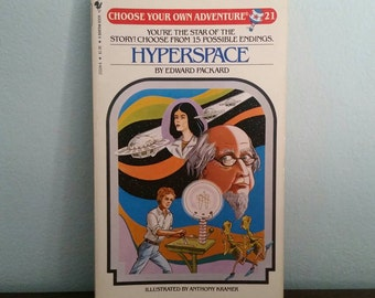 Hyperspace by Edward Packard, vintage children's Choose Your Own Adventure book