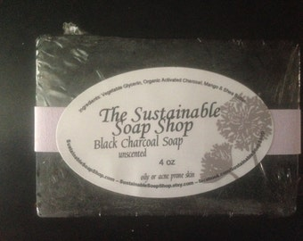 BLACK CHARCOAL SOAP - Unscented