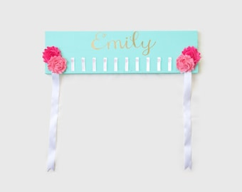 Headband Holder - Bow Holder - Custom Headband Holder - Custom Bow Holder - Customized Headband organizer - Customized Bow Organizer - Name