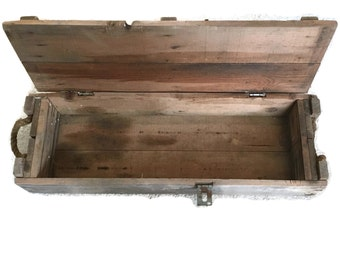 Wooden Ammunitions Crate -- Military Crate -- Ammo Crate -- Wooden Box with Lid -- Howitzer Ammunitions Crate -- BS1600
