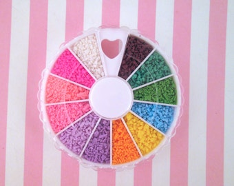 Polymer Clay Candy Shavings, Fake Sprinkles, Decoden Funfetti Rainbow Flakes