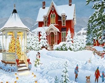 """Winter's Eve 24"""" x 44"""" Panel from Wilmington by the panel"""