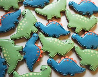 Cute Dinosaur Cookies / Party Biscuits /Childrens Party /Party favours/ 10 biscuits