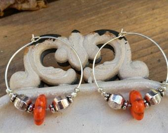 Summer Fresh Citrus Flower Tribal Earrings