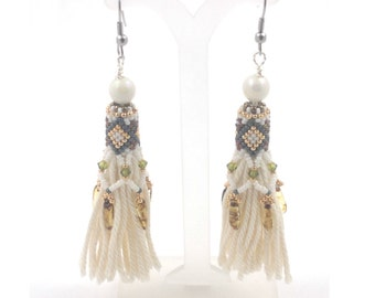 Beading4perfectionists: Poncahontas tassel earring beading tutorial PDF file