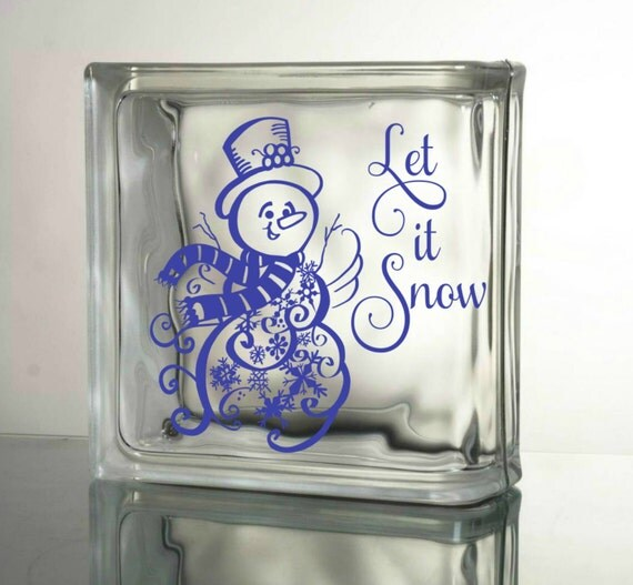Let it snow vinyl decal diy christmas crafts to by granddsigns for Quality craft vinyl plank reviews