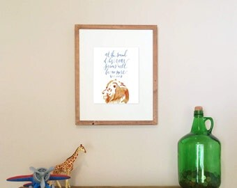 8x10 Narnia Nursery Print