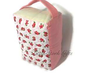 Floral doorstop, door weight, ditzy doorstop, patterned doorstop, doorstops