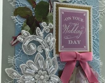 Handmade Greeting Card Wedding Bridal # 401