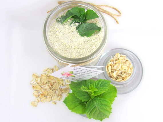 Oatmeal Mint Bath Soak With Tea Bags 8 Oz