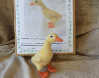 PDF pattern Needle Felt Yellow Duckling Kit- beginner/ intermediate - The Wishing Shed - Easter Decoration / Ornament chick Gift