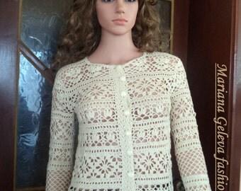 Vestes femmes élégantes / Crochet / Le modèle est fabriqué sur commande