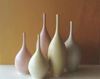 mixed color bottle vases set of five