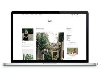 "wordpress theme ""lux"" - a responsive blog template"