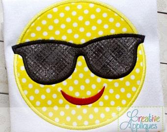 Cool Sunglasses Emoji Embroidered Shirt FREE Personalization