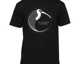 7 Hermetic Principles Thoth/Hermes Shirt (hermes, hermes shirt, thoth shirt, kybalion, kybalion shirt, occult shirt, occult t-shirt)