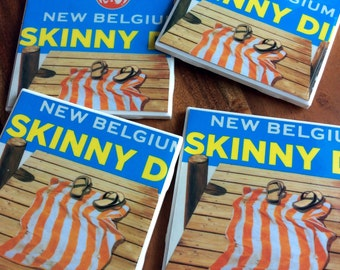 New Belgium Skinny Dip Beer Coasters