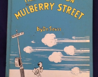 And To Think That I Saw It On Mulberry Street, Dr. Seuss, Stated First Edition Renewed, 18th Printing, 1937, Ex School Library