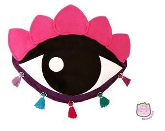Lotus Eye Cross body purse Purple & Fucsia