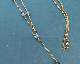 Long layering beaded Y necklace