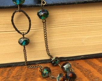 Beaded, boho-chic, czech glass necklace