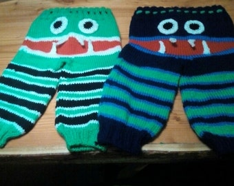 Hand knitted monster pants
