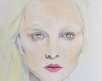 "Print ""Olly"" by Amanda Wells - Original artwork, glossy photo paper finish, portrait art, Australian artist"