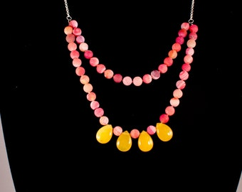 Pink shades necklace