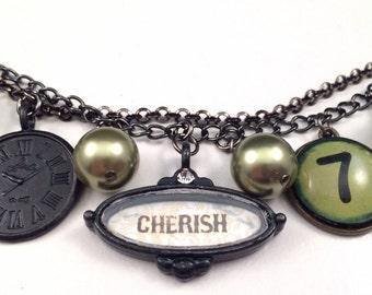 Steampunk Bracelet - Steampunk - Cherish - Funky Bracelet - Steampunk Charm Bracelet - Charm Bracelet