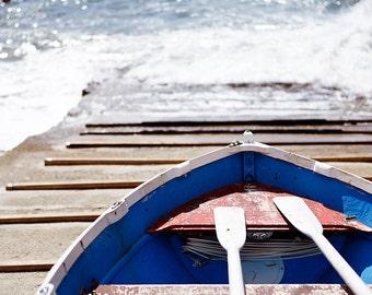 Fishing Boat Print, Cinque Terre Photograph, Riomaggiore Boat Print, Cinque Terre Print, Cinque Terre Photo, Italy Wall Print, Wall Decor
