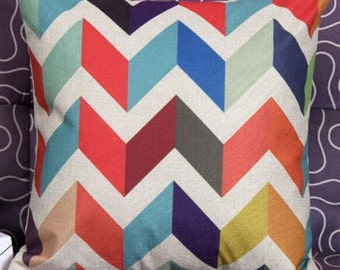 Colorful Chevron  cushion cover, pillow cover