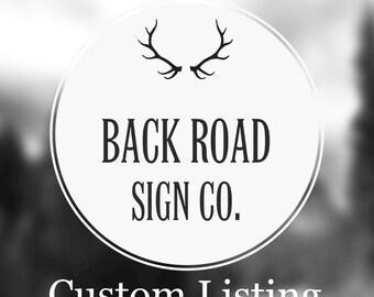 "Custom Sign 12"" x 48"""