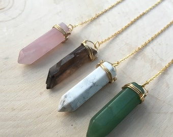 Crystal Necklace, Drop Crystal Necklace