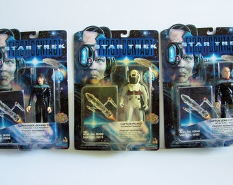 Lot of 10 Star Trek First Contact Action Figures, 1996