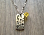 Find the Joy in the Journey - Motivational Necklace