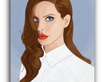 Lana Del Rey Canvas Art Print A1 A2 A3 A4